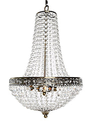 "15573 Poetic Wanderlust by Tracy Porter Cheyenne Clear Crystal 3-Light Portable Chandelier | 24"" by River of Goods"