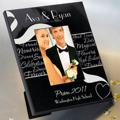 GC455 Black and White Formal Prom | Personalized Picture Frame for 4x6 Photo by JDS Marketing