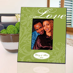GC860 Green Love in 3 Colors | Personalized Picture Frame for 4x6 Photo