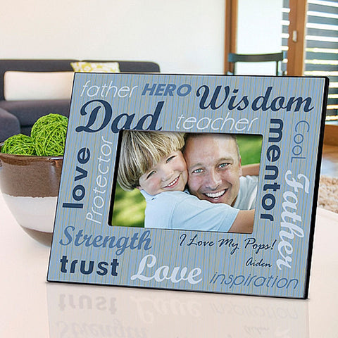 GC704 All Star Dad | Personalized Picture Frame for 4x6 Photo by JDS Marketing