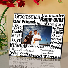 GC514 Groomsman Wedding | Personalized Picture Frame for 4x6 Photo by JDS Marketing