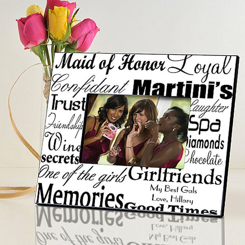 Maid of Honor Wedding in 7 Colors | Personalized Frame for 4x6 Photo