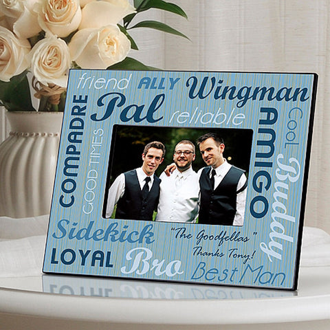 GC752 Best Man Best Buds in 3 Designs | Personalized Picture Frame for 4x6 Photo