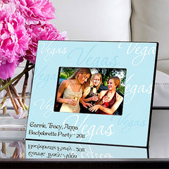 GC913 Blue Script Ladies Las Vegas in 5 Designs | Personalized Picture Frame 4x6 Photo