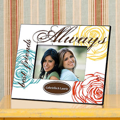GC858 Colorful Bouquet Forever Friends in 3 Colors | Personalized Picture Frame for 4x6 Photo