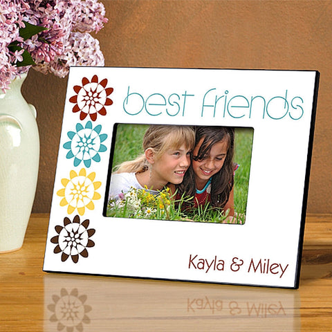 GC858 BFF Bouquet Best Friends in 4 Designs | Personalized Picture Frame for 4x6 Photo