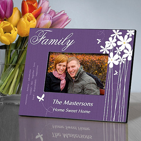 GC743 Family Bloomin' Butterfly in 4 Designs | Personalized Picture Frame 4x6 Photo