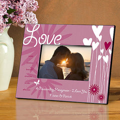 GC963 Heart Throb Valentines Day Love 7 Designs | Personalized Picture Frame 4x6 Photo