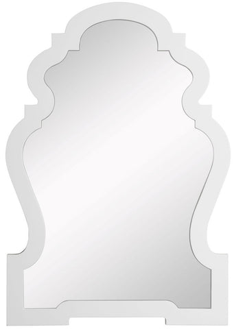4935 Lawson White Oversized Arch Wall Mirror by Cooper Classics