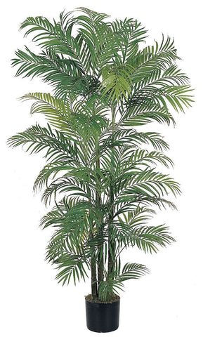 5002 Areca Palm Artificial Silk Tree w/Planter by Nearly Natural | 6 feet