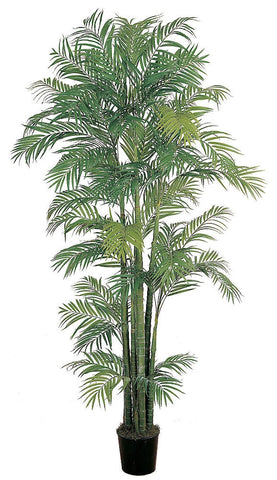 5003 Areca Palm Artificial Silk Tree w/Planter by Nearly Natural | 7 feet
