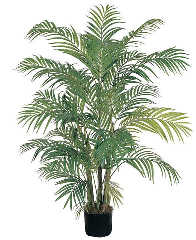 5001 Areca Palm Artificial Silk Tree w/Planter by Nearly Natural | 4 feet