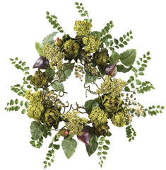 4684 Artichoke Artificial Silk Wreath by Nearly Natural | 20 inches