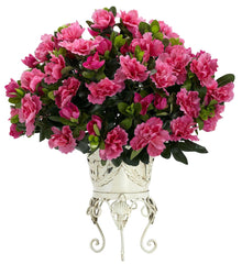 6687 Azalea Artificial Silk Plant w/Planter by Nearly Natural | 19 inches