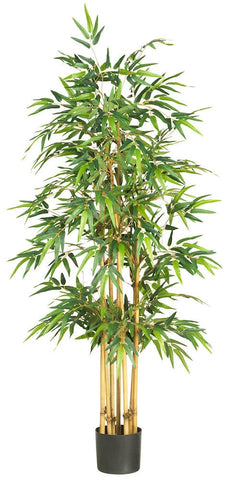 5253 Bamboo Artificial Silk Tree with Planter by Nearly Natural | 64 inches