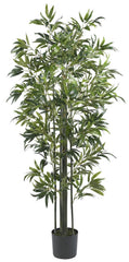 5294 Bamboo Artificial Silk Tree with Planter by Nearly Natural | 72 inches
