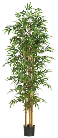 5254 Bamboo Artificial Silk Tree with Planter by Nearly Natural | 75 inches