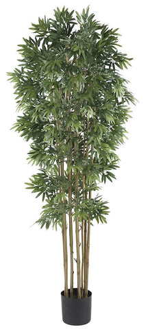 5045-NT Japonica Bamboo Silk Tree with Planter by Nearly Natural | 6 feet