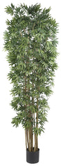 5050-NT Japonica Bamboo Silk Tree with Planter by Nearly Natural | 7 feet
