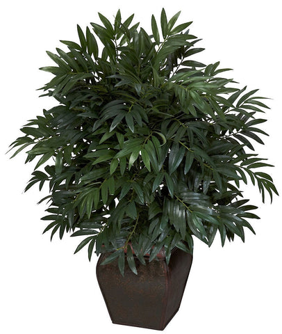 6718 Double Bamboo Palm Silk Plant by Nearly Natural | 35 inches