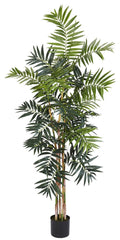5319 Bamboo Palm Artificial Silk Tree w/Planter by Nearly Natural | 5 feet