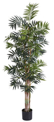 5320 Bamboo Palm Artificial Silk Tree w/Planter by Nearly Natural | 6 feet