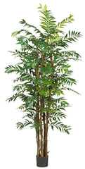 5250 Bamboo Palm Artificial Silk Tree w/Planter by Nearly Natural | 7 feet