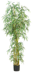 5194 Slim Bamboo Artificial Tree with Planter by Nearly Natural | 7 feet