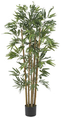 5280 Bambusa Bamboo Artificial Tree with Planter by Nearly Natural | 4 feet
