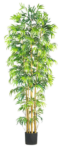 5215 Bambusa Bamboo Artificial Tree with Planter by Nearly Natural | 7 feet