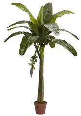 5338 Banana Artificial Silk Tree with Planter by Nearly Natural | 6 feet