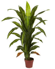 6650 Dracaena Artificial Tree with Planter by Nearly Natural | 48 inches