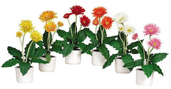 4600 Gerber Daisy Set of 6 Artificial Plants by Nearly Natural | 12 inches