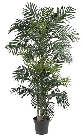 5289 Golden Cane Palm Silk Tree with Planter by Nearly Natural | 6.5 feet