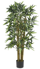 5282 Bamboo Artificial Silk Tree with Planter by Nearly Natural | 4 feet