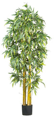 5190 Bamboo Artificial Silk Tree with Planter by Nearly Natural | 6 ft