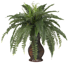 6629 Boston Fern Artificial Plant with Urn by Nearly Natural | 28 inches