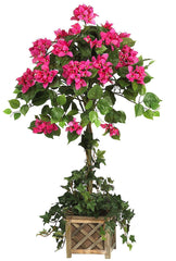 5227 Bougainvillea Silk Topiary Plant by Nearly Natural | 34 inches