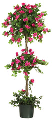 5228 Mini Bougainvillea Double Ball Topiary Tree by Nearly Natural | 5 feet