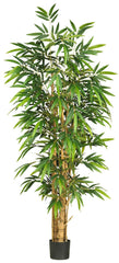 5257 Buddha's Belly Bamboo Silk Tree w/Planter by Nearly Natural | 6 feet