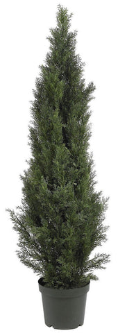 5291 Mini Cedar Pine Indoor Outdoor Topiary Tree by Nearly Natural | 5 feet