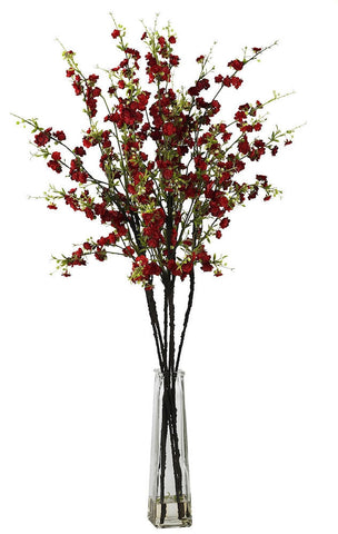 1193-RD Red Silk Cherry Blossoms in Water in 2 colors by Nearly Natural | 38""