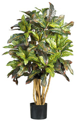 5182 Croton Artificial Silk Plant with Planter by Nearly Natural | 3 feet