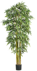 5191 Bamboo Artificial Silk Tree with Planter by Nearly Natural | 84 inches