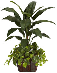 6637 Bird of Paradise & Pothos Silk Plant by Nearly Natural | 4 feet