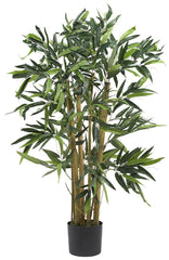 5281 Bamboo Artificial Silk Plant with Planter by Nearly Natural | 3 feet