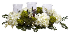 4806 Snowball Hydrangea Silk Candelabrum by Nearly Natural | 29 inches