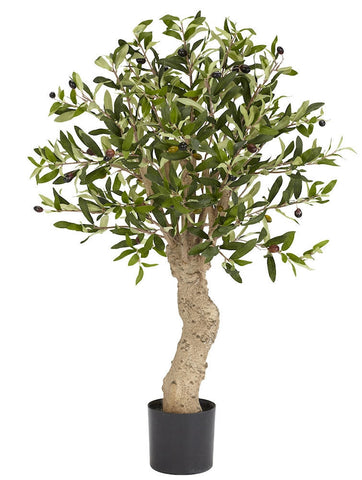 5331 Olive Tree Artificial Silk with Planter by Nearly Natural | 30 inches