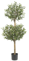 5309 Olive Silk Double Ball Topiary Tree by Nearly Natural | 4.5 feet