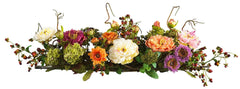 4665 Mixed Peony & Floral Silk Arrangement by Nearly Natural | 34 inches